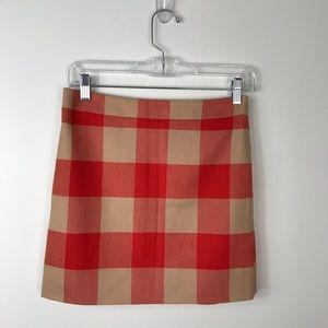 J. Crew Buffalo Plaid Wool Mini Skirt